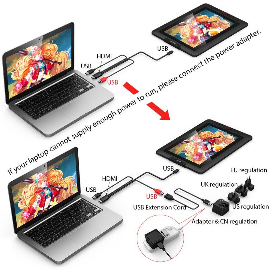 Bảng Vẽ Màn Hình XP-Pen Artist 13.3 Pro fullHD 91%Adobe RGB Lực Nhấn 8192 Cảm Ứng Nghiêng (Kèm Găng Tay Họa Sĩ Và Đế Nghiêng) - Hàng Chính Hãng