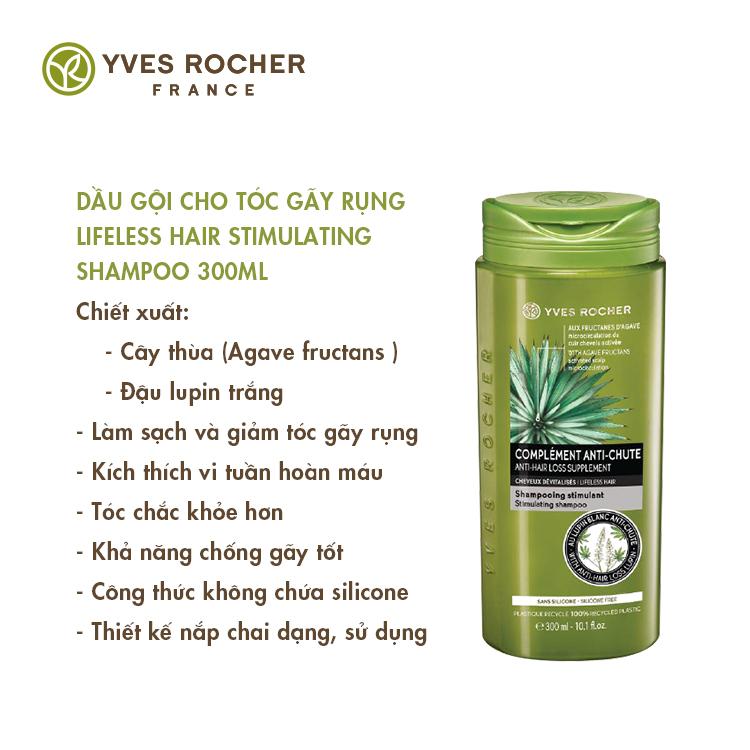 Dầu Gội Dành Cho Tóc Gãy Rụng Yves Rocher Lifeless Hair Stimulating Shampoo 300ml
