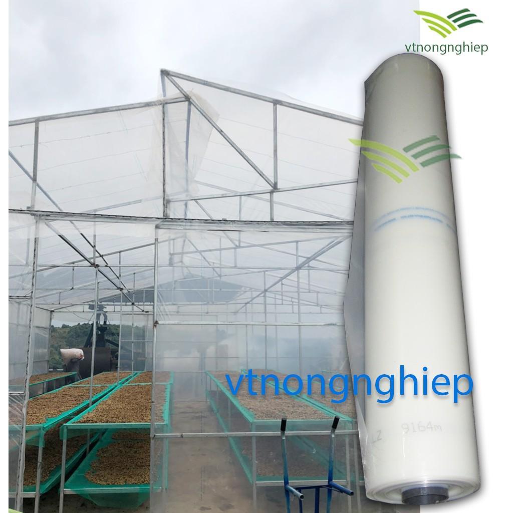 1m Màng PE nhà kính Đạt Hòa, khổ 2.2m, màng nhà kính che mưa cho vườn dưa lưới, dâu tây, rau sạch