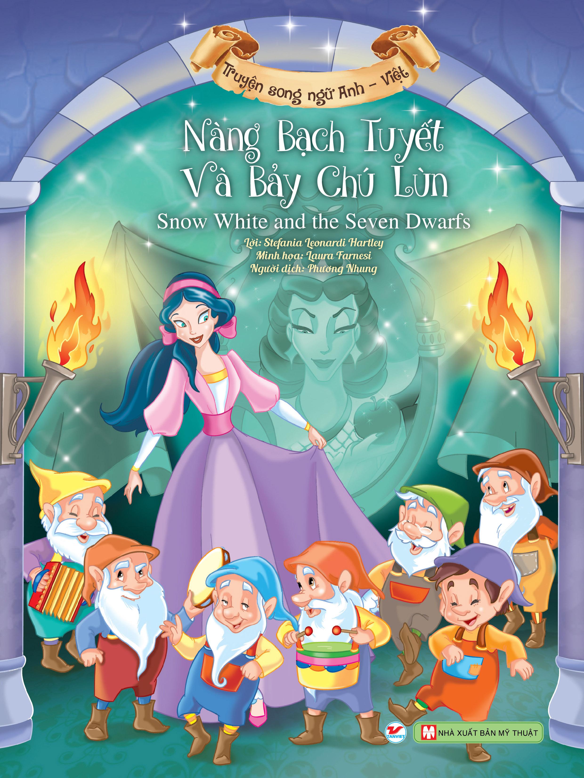 Combo Truyện Song Ngữ Anh - Việt: Nàng Bạch Tuyết và Bảy Chú Lùn + Người Đẹp Ngủ Trong Rừng + Aladin và Cây Đèn Thần + Alice Lạc Vào Xứ Sở Thần Tiên (Bộ 4 Cuốn)