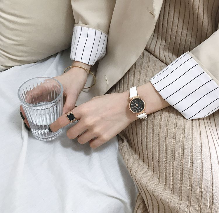 Đồng hồ nữ Naidu mặt giả đá phong cách thời trang năng động