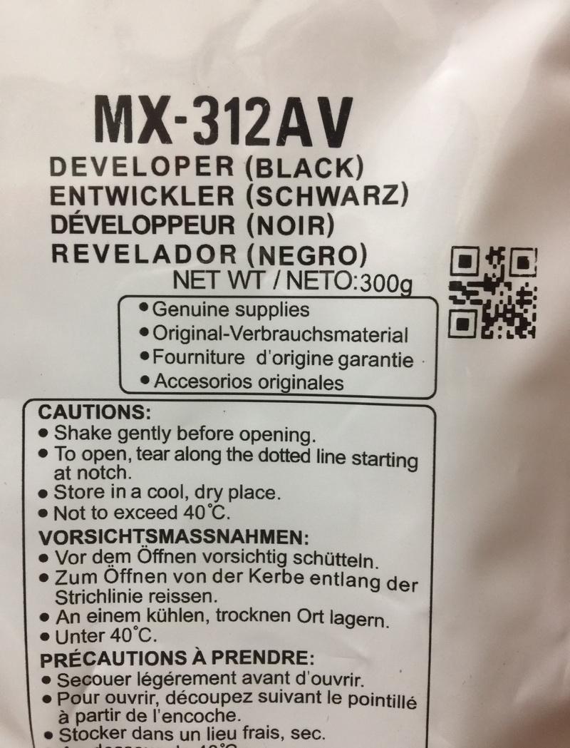 Bột từ ( DEVELOPER ) Sharp MX-312CV dùng cho máy photocopy Sharp AR-5726/5731/M260N/M310N