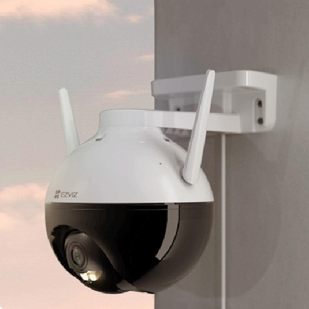 Camera IP Wifi PTZ Ngoài Trời Ezviz C8C Full Color Hồng Ngoại 30 Mét Có Dây Nối Nguồn Dài 20M - Hàng Chính Hãng
