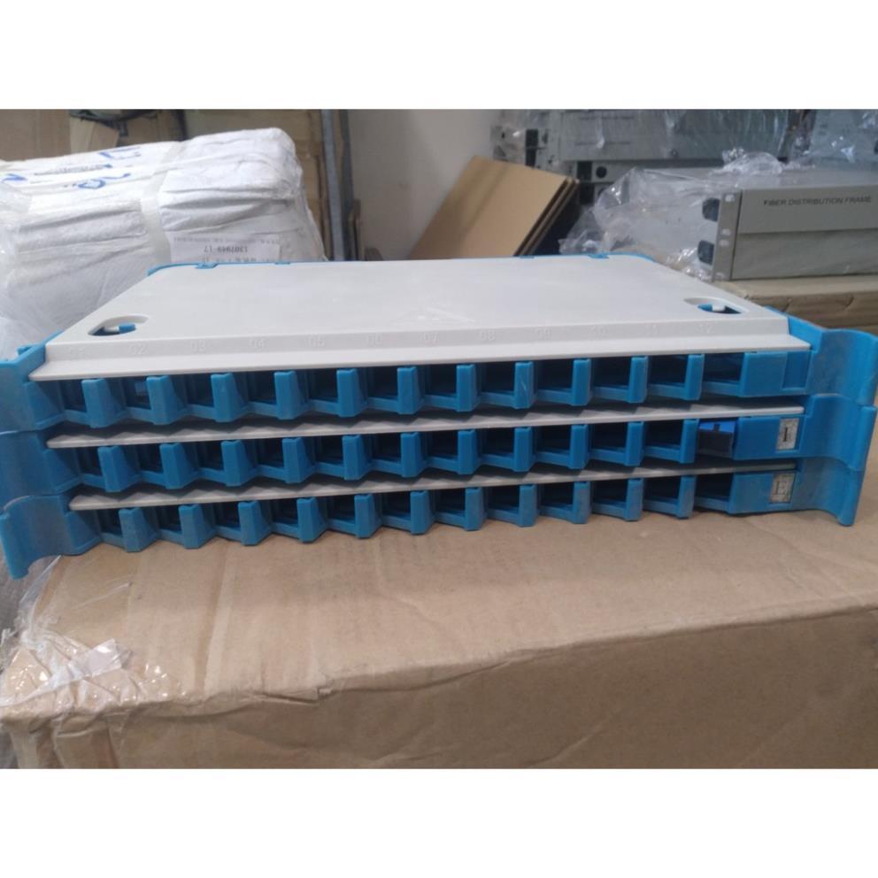 Combo 05 khay hàn quang cho tủ điện tập trung, 5 dây nối 12 màu SCU 1.5m, 60 chiếc Adapter