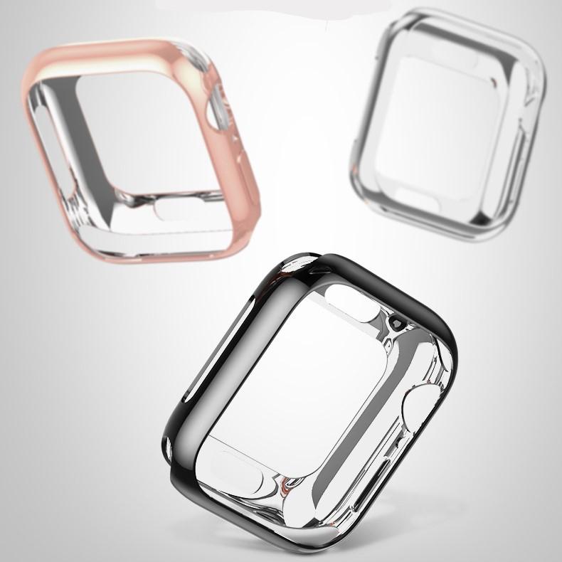 Ốp Case Bảo Vệ TPU Mạ Chrome Hoco Cho Apple Watch Series 4/ 5/ 6/ SE Size 40/44mm_ Hàng Chính Hãng