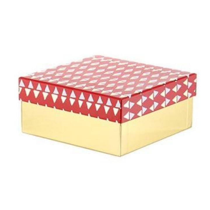 Hộp quà tặng Miniso họa tiết hình học Triangle Pattern Gift Box (Medium)  (Đỏ) - Hàng chính hãng - Hộp quà - Túi quà Tác giả MINISO | SachDayRoi.com