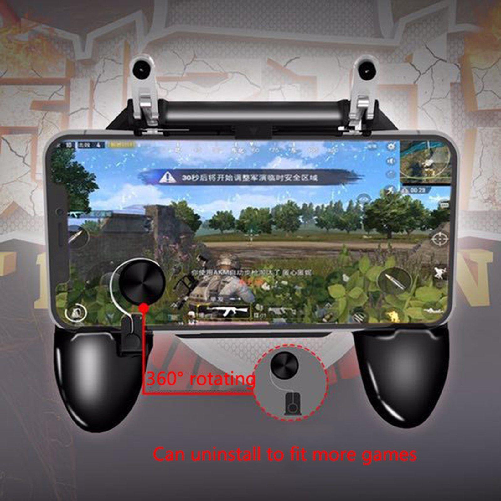 Bộ tay cầm 3in1 kèm nút di chuyển nút chơi game PUBG ROS Freefire W11+
