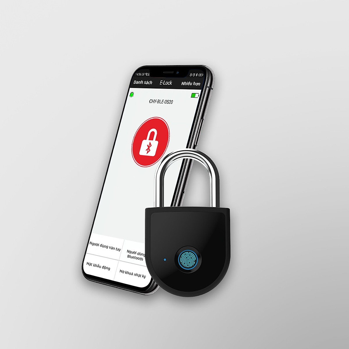Ổ khoá vân tay thông minh kết nối điện thoại qua App - Horizen