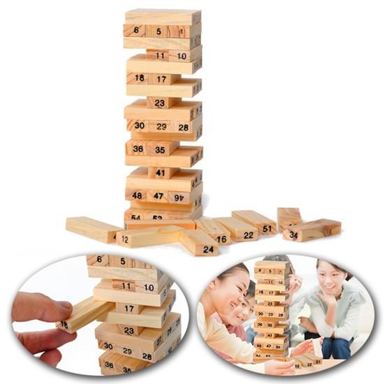 Bộ đồ chơi rút gỗ mini 54 thanh