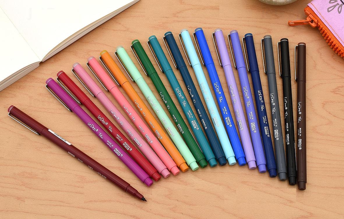 Bút lông đầu cọ viết calligraphy Marvy Le Pen Flex Brush Pen
