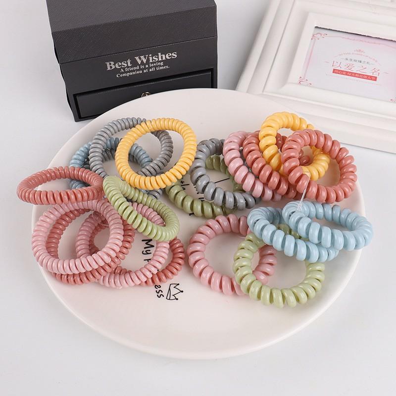 Bộ 24 móng tay giả đính đá (WH-001) kèm thun lò xo cột tóc màu ngẫu nhiên tiện lợi ( Mẫu mới )