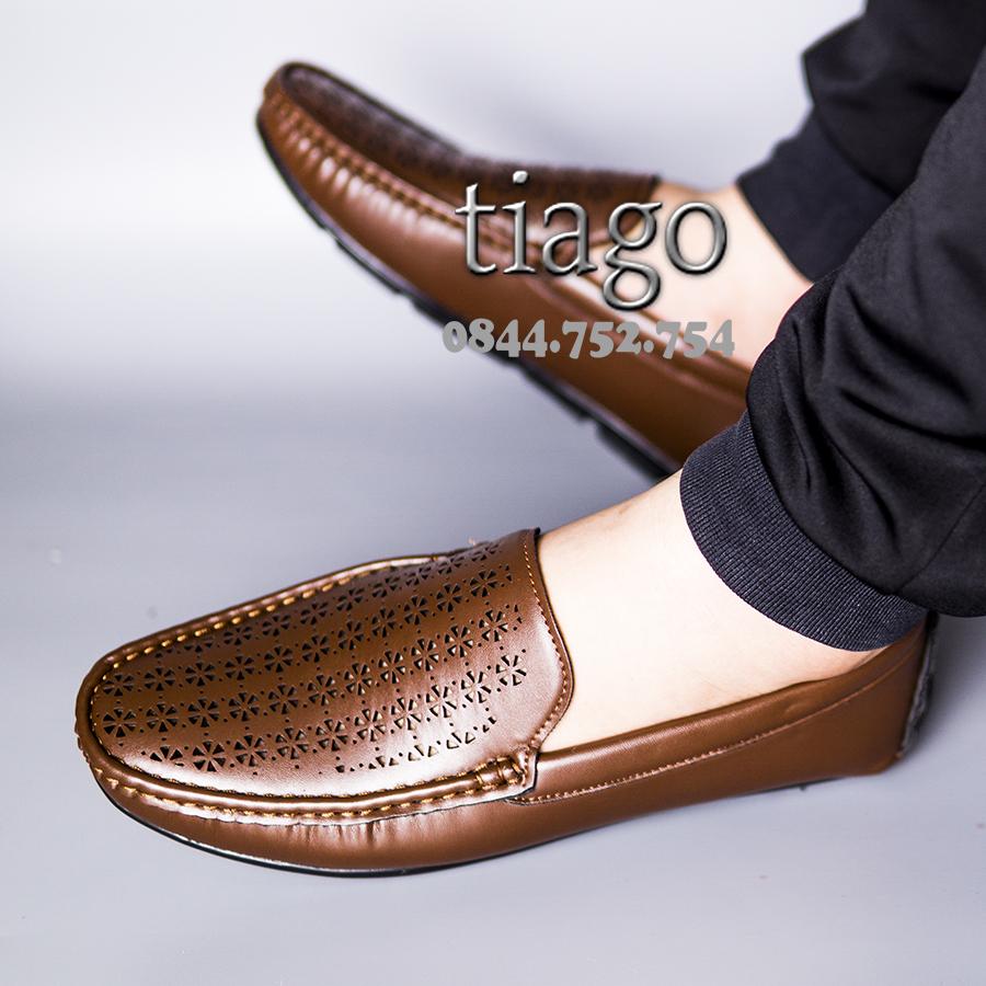 giày mọi nam thoáng khí mùa hè da đế cao su khâu siêu bền chống nước tốt - M9