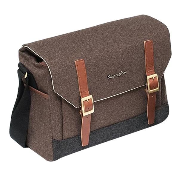 Herringbone Postman Medium Brown (30 x 22 cm)- Hàng Chính Hãng