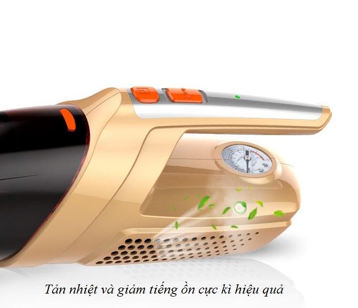 Máy hút bụi cầm tay trên ô tô đa năng kiêm máy bơm lốp công suất 80W ( Tặng kèm đèn pin mini bóp tay không sử dụng pin )