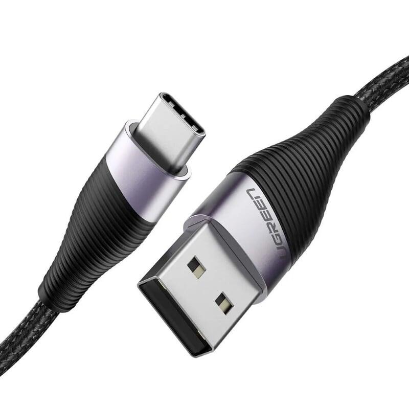 Cáp USB-A sang Type C sạc nhanh 1M màu Xám Ugreen UC60205ED022 Hàng chính hãng