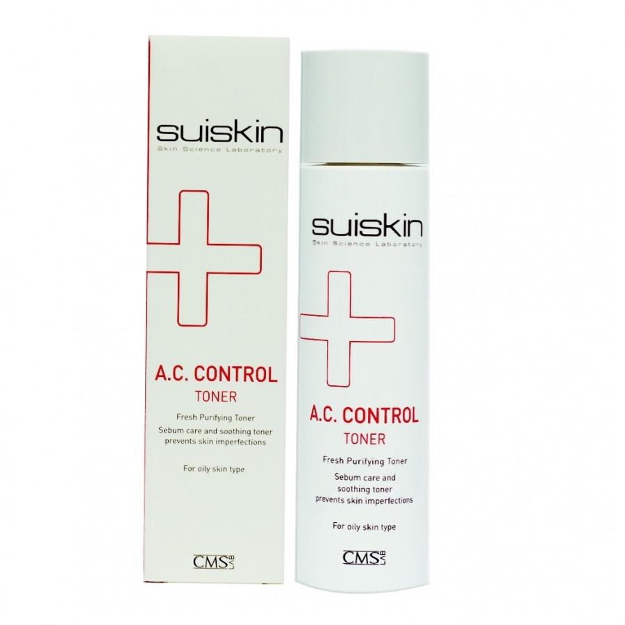 Nước hoa hồng dưỡng da hỗ trợ điều trị mụn Suiskin A.C.Control Toner 150ml
