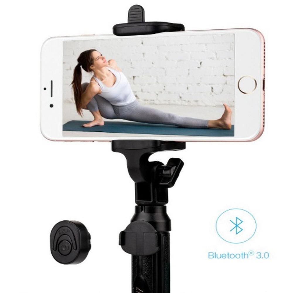 Gậy tự sướng Bluetooth  kèm chân đế - Hàng nhập khẩu