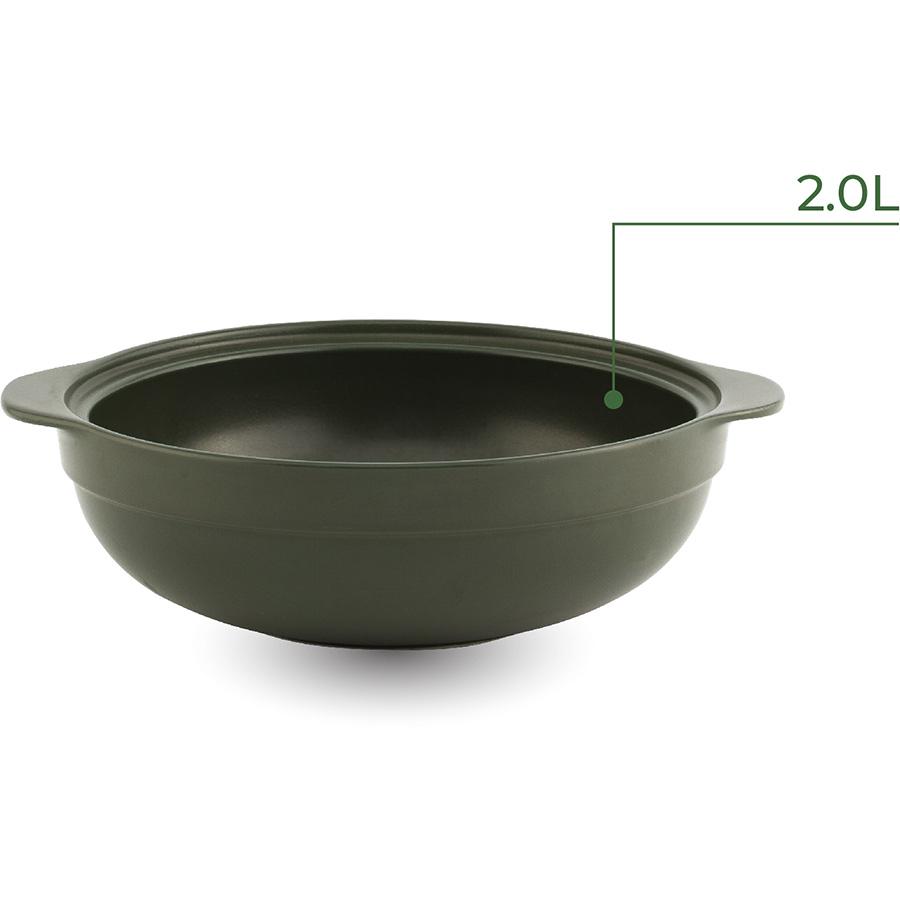 Nồi dưỡng sinh Luna Minh Long Healthy Cook 212083464 + nắp - Xanh Rêu (2.0L)