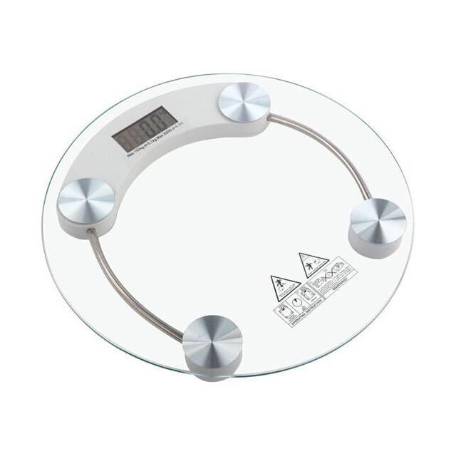 Cân Điện Tử Mặt Kính Tròn Trong Suốt Siêu Hot 26cm CD11