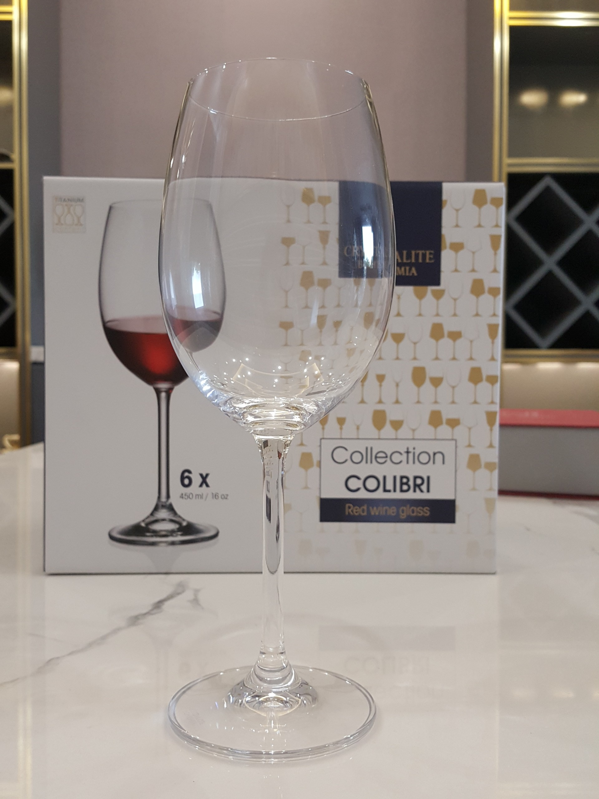 Bộ 6 Ly Rượu Vang Crystalite Bohemia Colibri 450ml