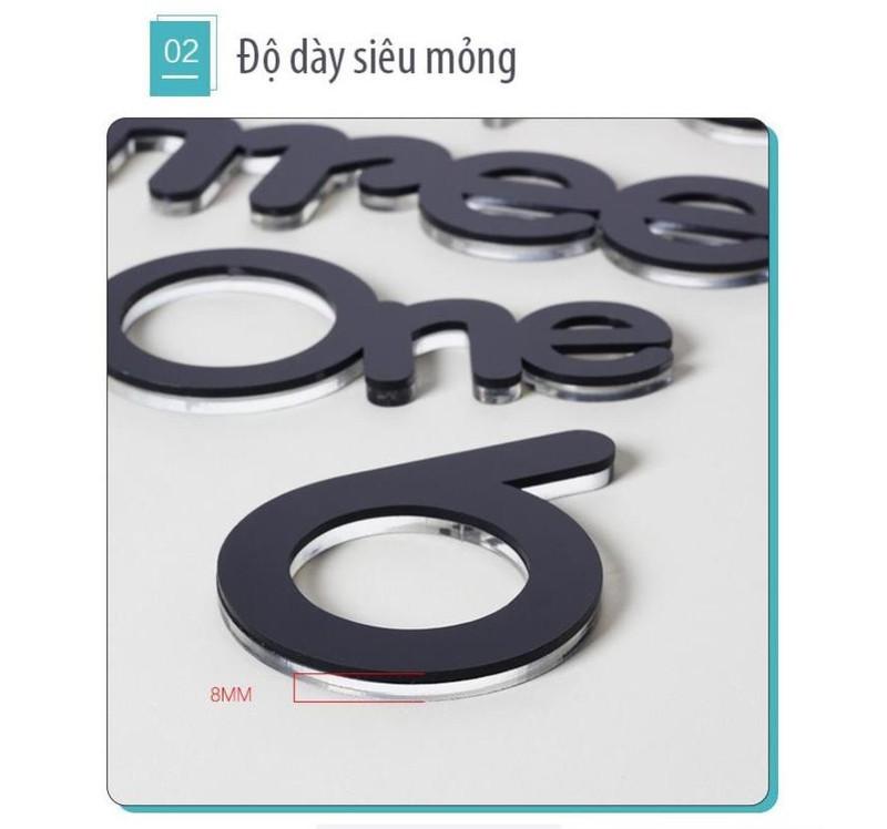 Đồng Hồ Dán Tường 3D Chữ và Số Đẹp Mắt 2-B5-L2-4323