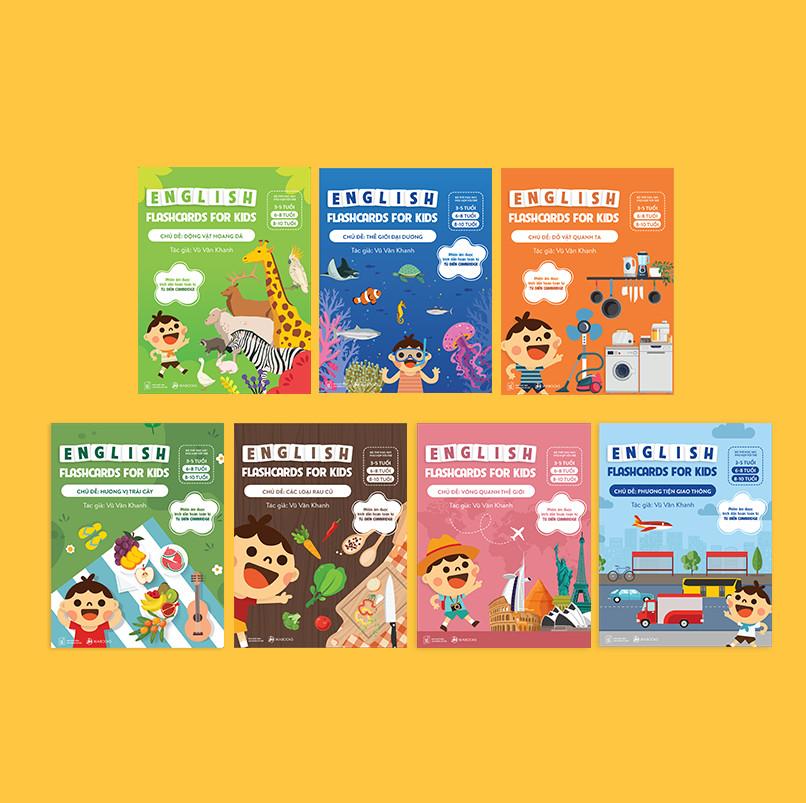 Bộ Thẻ Học (Flashcard) Thông Minh Song Ngữ Tiếng Anh Phiên Âm chuẩn CAMBRIDGE - Chủ đề : Thế Giới Đại Dương (3 - 10 tuổi)