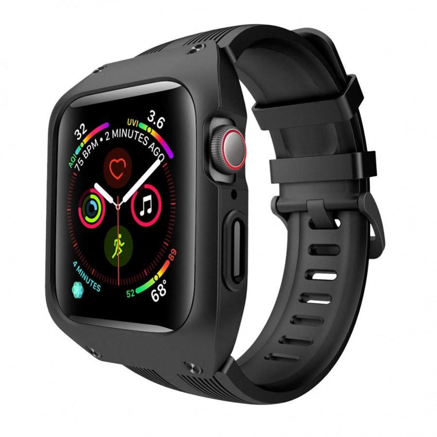dây đồng hồ cho Apple Watch, dây cao su kèm ốp chống sốc cao cấp dành cho Apple Watch