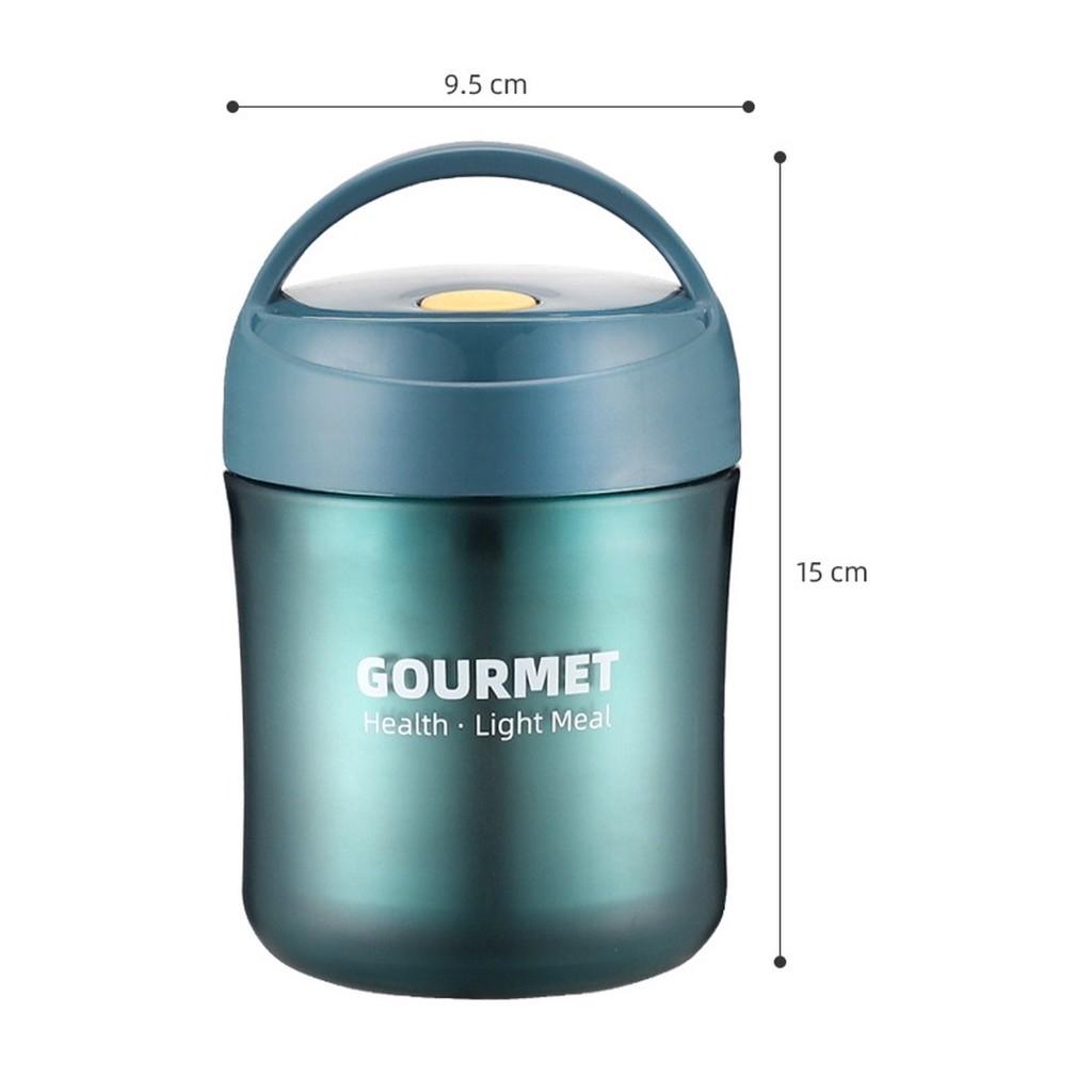 Bình, giữ nhiệt ủ cháo 500ml ruột inox 304 giữ nhiệt rất lâu có quai sách