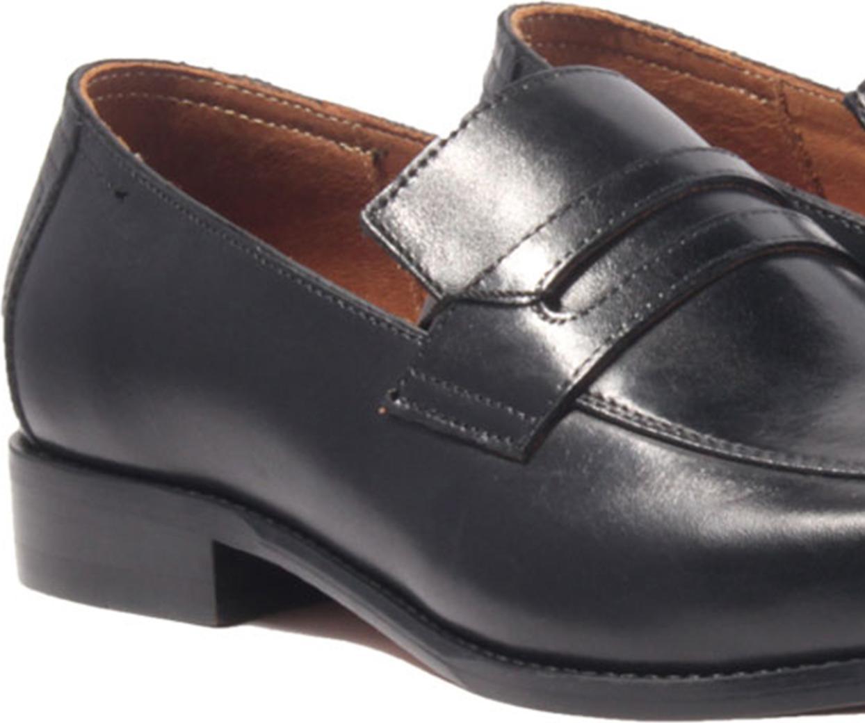 Giày lười, phong cách giày tây công sở Penny Loafer H1PL2M0 da bò Ý, chính hãng Banuli