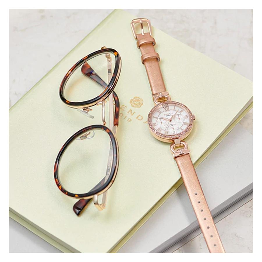 Đồng hồ nữ dây da Casio Sheen chính hãng SHE-3067PGL-7BUDF
