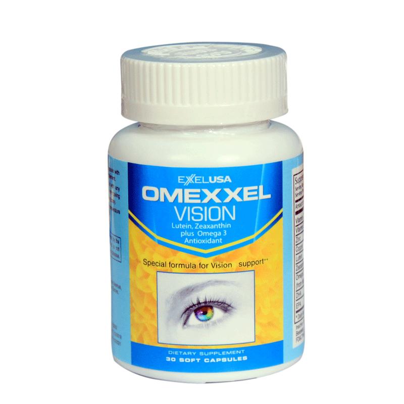 Combo 2 Lọ Thực Phẩm Chức Năng Viên Uống Bổ Mắt Omexxel Vision (Lọ 30 viên) - Chính Hãng Hoa Kỳ