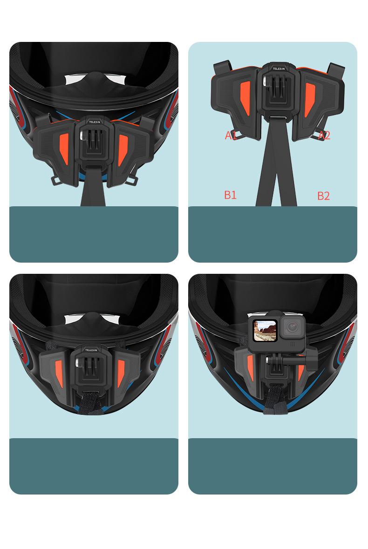 Bộ Gắn Cằm, Mount Gắn Cằm Gopro Lên Mũ Fullface Chắc Chắn, Phụ Kiện Máy Quay Hành Trình GoPro Hero Gopro Hero/Osmo Action (Hàng Chính Hãng) Không bao gồm nón bảo hiểm