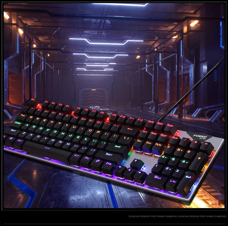Bàn phím cơ LED chơi game  Forev Q 302 18 chế độ LED, chơi game, văn phòng - Hàng chính hãng