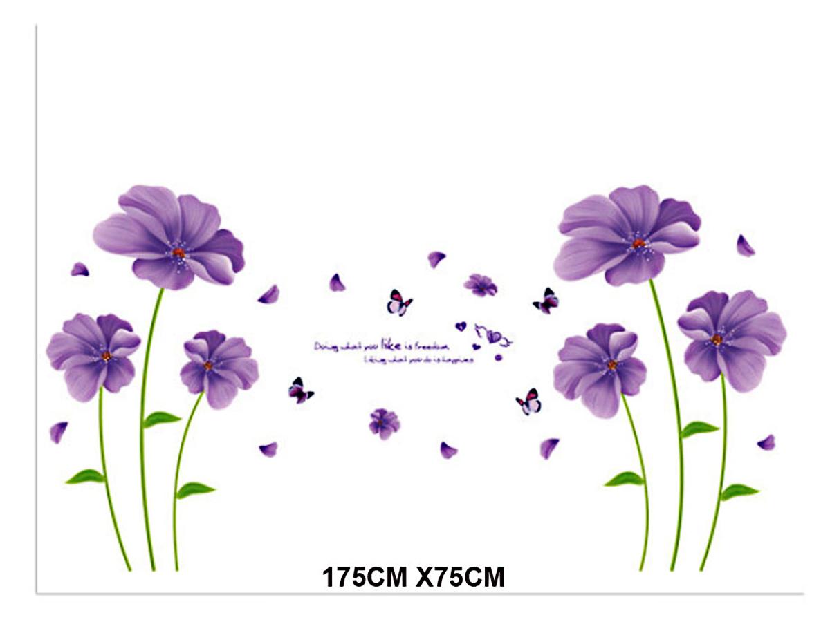 decal dán tường hoa tím xl8197