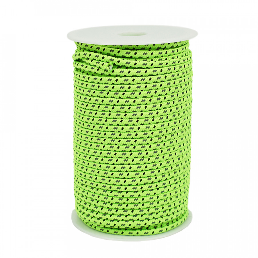 50m Reflective Rope Paracord Cord Outdoor Gear Lanyard 1 Inner Strand Core For Camping Tent Awning 4mm