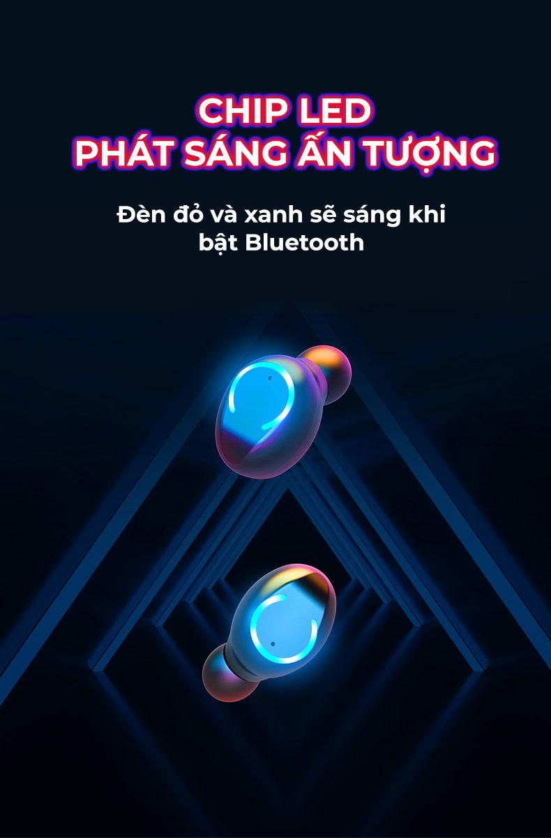 Tai nghe nhạc KIÊM SẠC DỰ PHÒNG, GIÁ ĐỠ cho điện thoại, chơi game, xem phim, âm thanh siêu thực, kết nối không dây bluetooth 5.0  - Hàng chính hãng