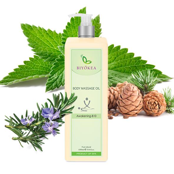 Dầu Massage Body Biyokea Premium - Awakening B10 (tỉnh táo) - 1000ml