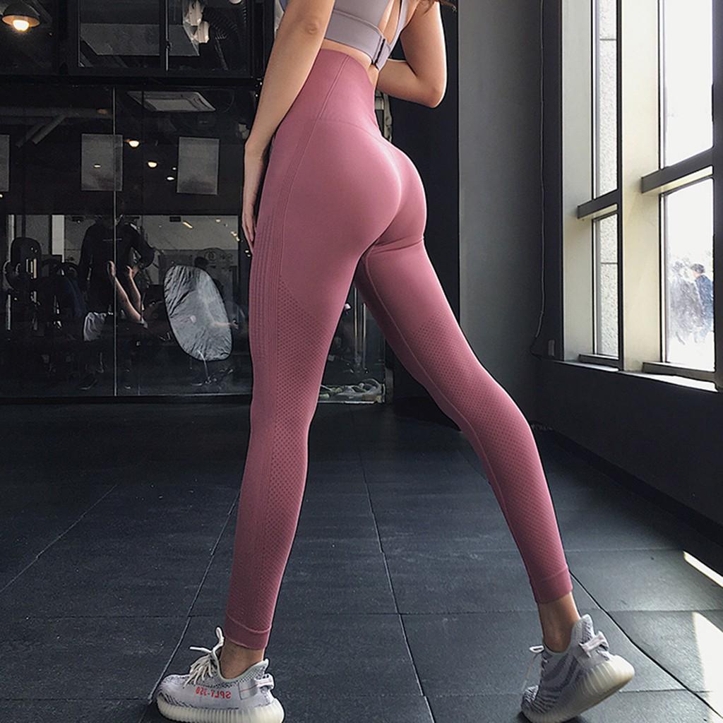 Quần Legging Tập Thể Thao, Gym, Chạy Bộ Nữ - Quần Legging Cạp Cao Chất Thun Co Dãn 4 Chiều Tôn Dáng FreeSize Dưới 62kg