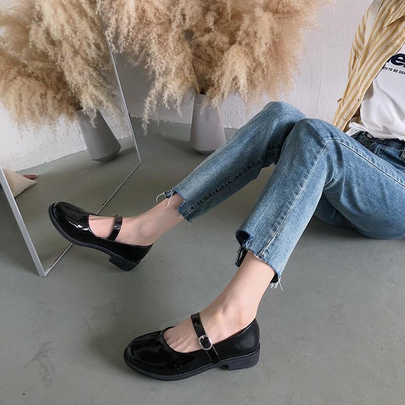 Giày Mary Jane Da Bóng