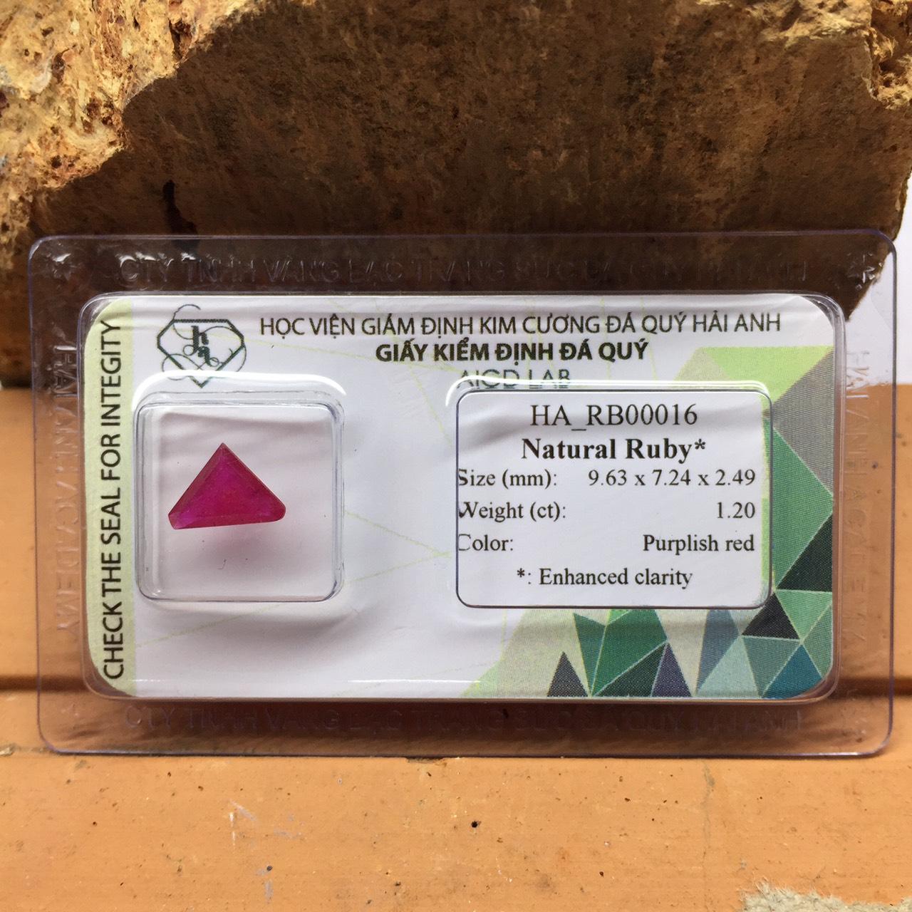 Viên đá Ruby thiên nhiên_HA-RB00016