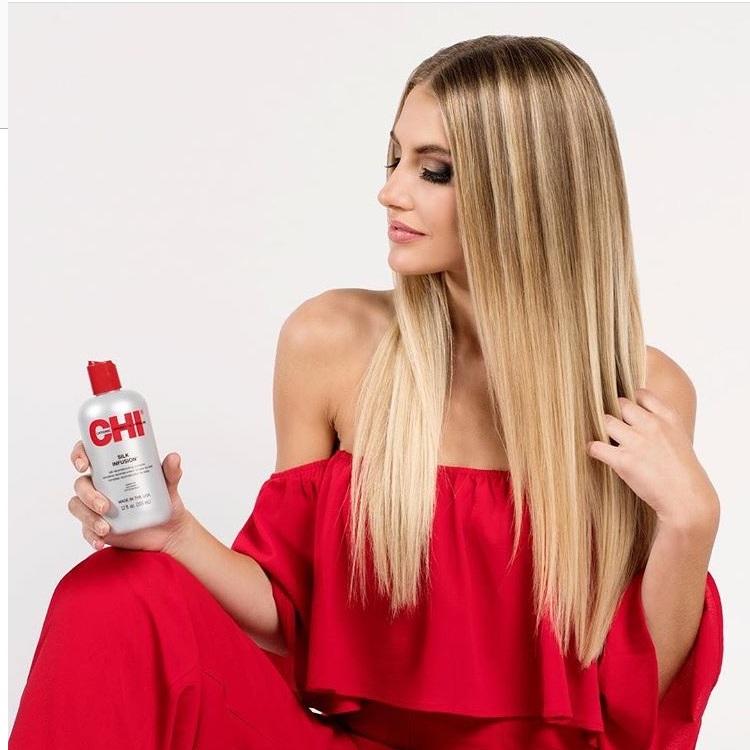 Tinh dầu dưỡng tóc CHI Silk Infusion Silk Rescontructing Complex 355ml