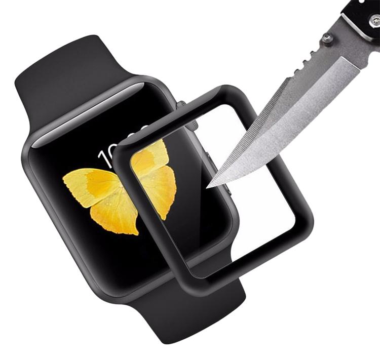 Miếng Dán Cường Lực Glass 3D 9H Full Màn Hình Cho Apple Watch 38mm - Hàng chính hãng