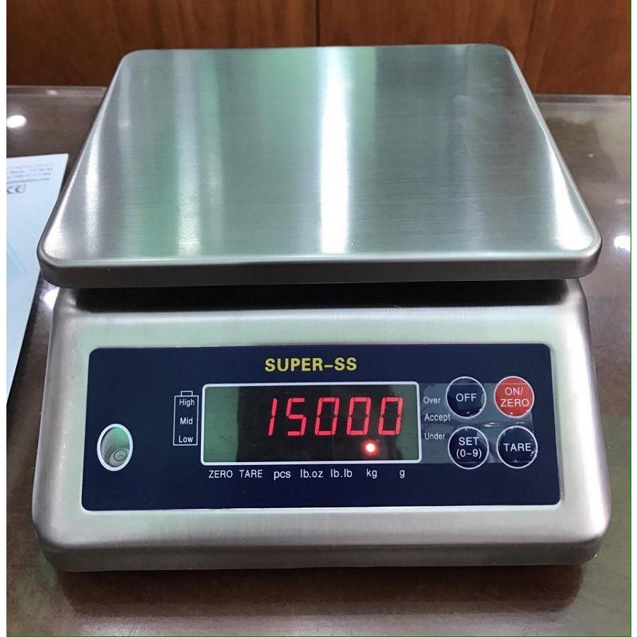 Cân thủy sản SuperSS-3kg/0.5g, inox chống nước