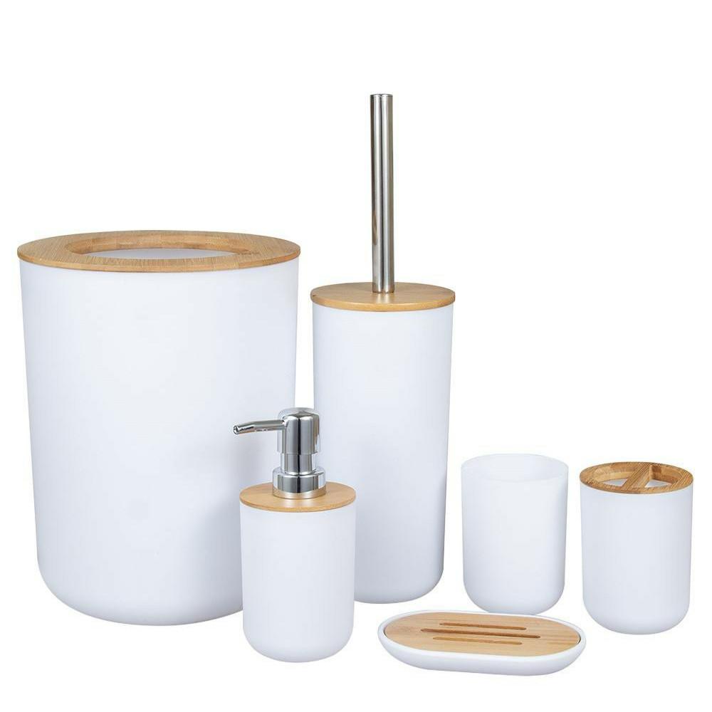 Bộ thùng rác bàn chải vệ sinh nhà tắm bằng nhựa