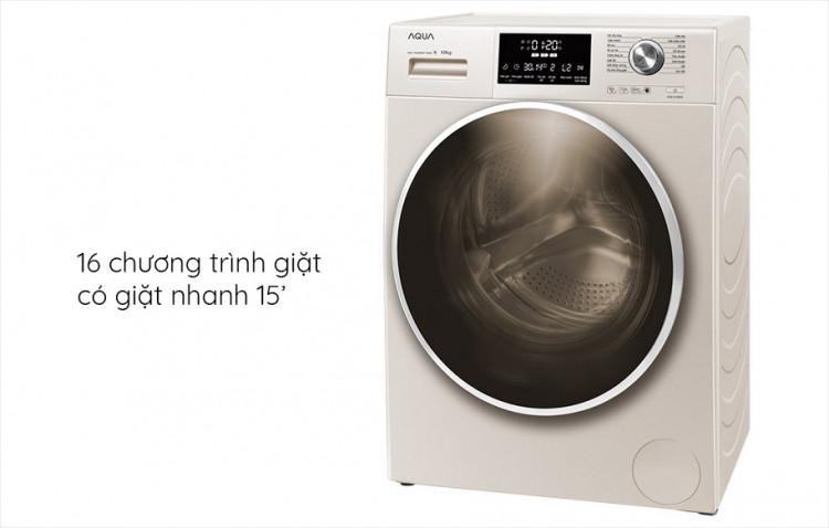 Máy giặt AQUA AQD-D1000C N2, 10.0kg, Inverter tích hợp 16 chương trình giặt tự động
