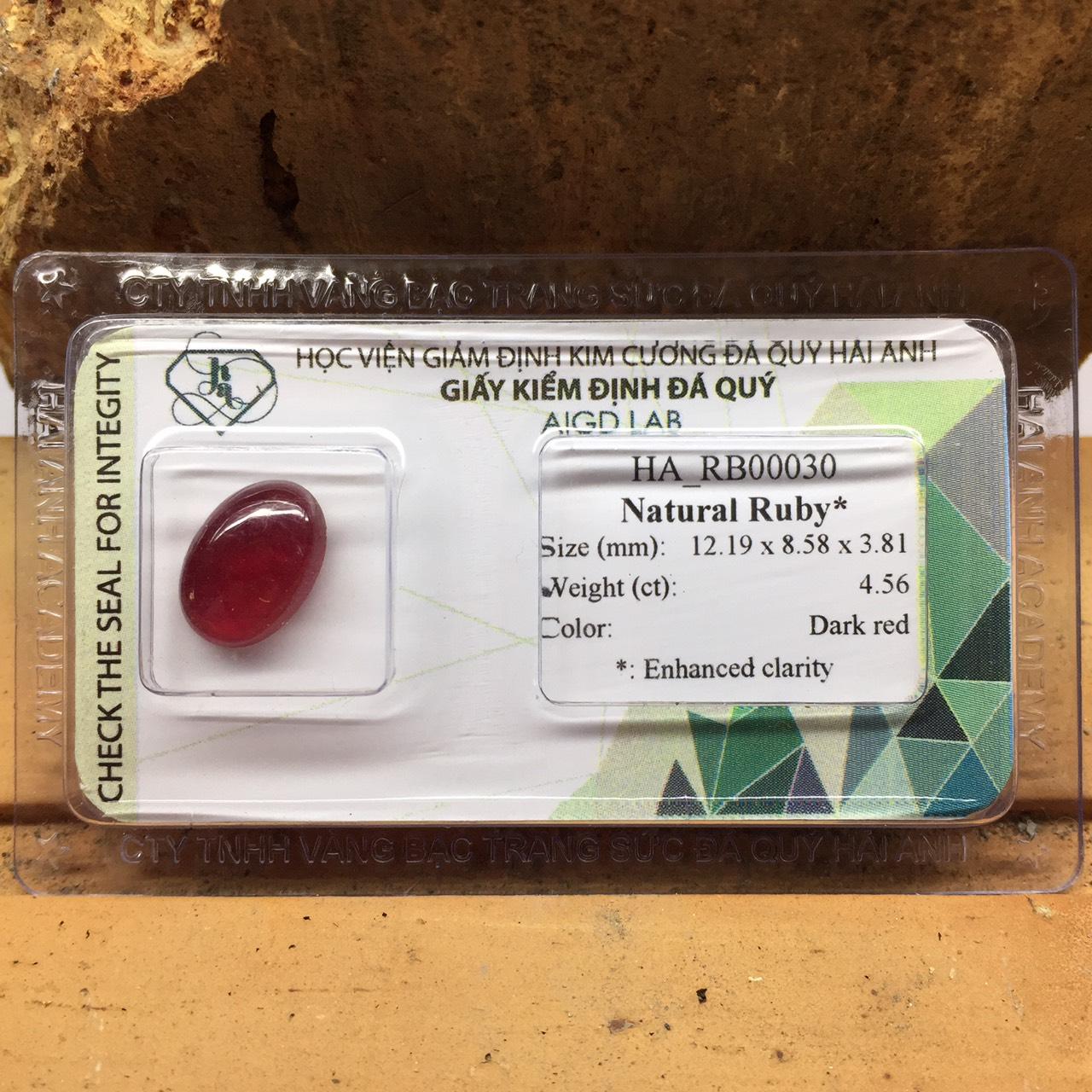 Viên đá Ruby thiên nhiên_HA-RB00030