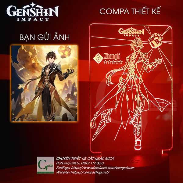 Đèn Ngủ Genshin Impact Zhongli Type 01