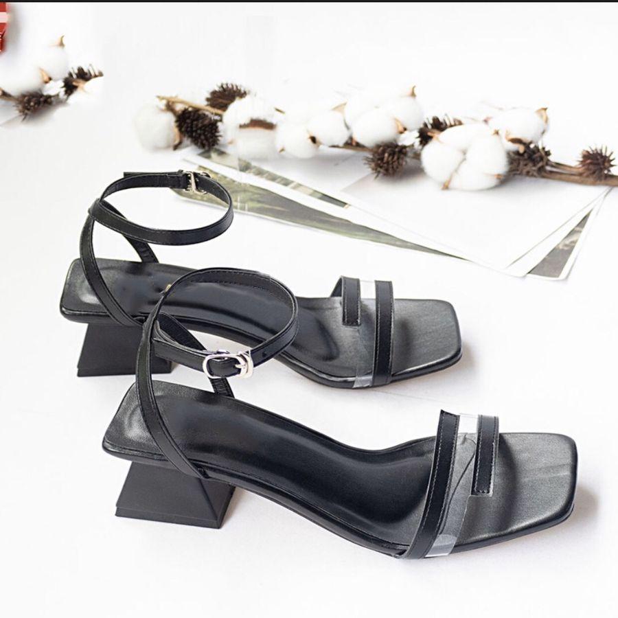Sandal nữ quai ngang phối mica đế 5cm thời trang cao cấp-S55