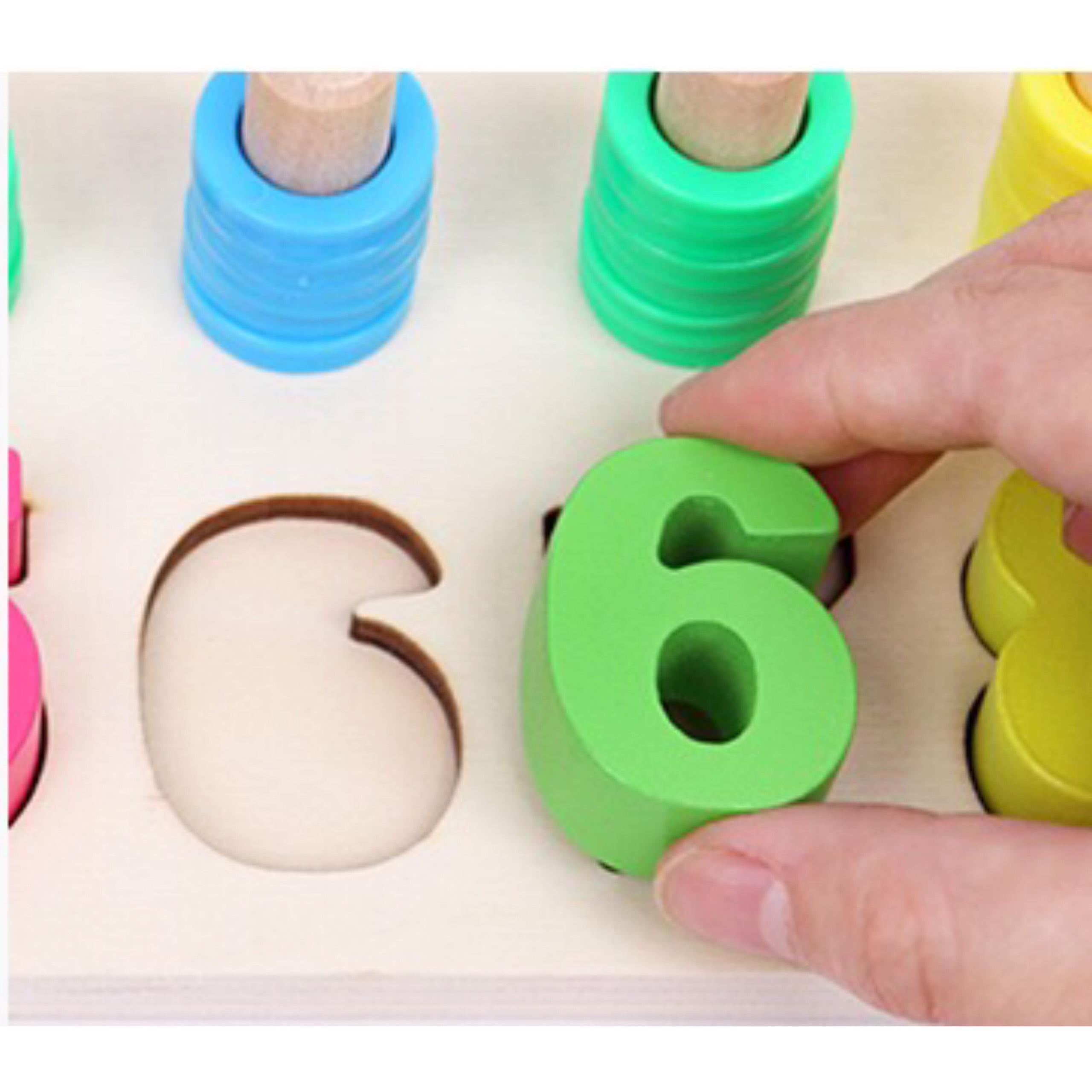 Bộ đồ chơi đếm số gỗ