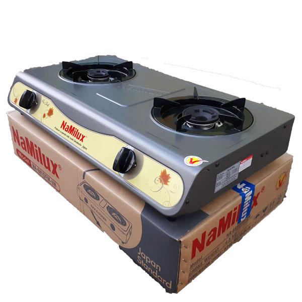 Bếp gas đôi mặt men Namilux NA-681DFM Tặng dây bọc inox Hàng chính hãng